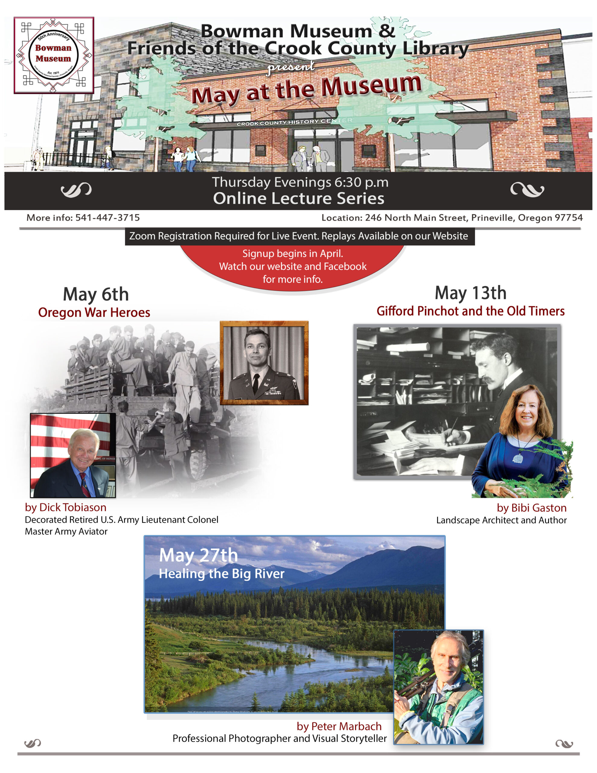 May at the Museum – Speakers & Registration Info